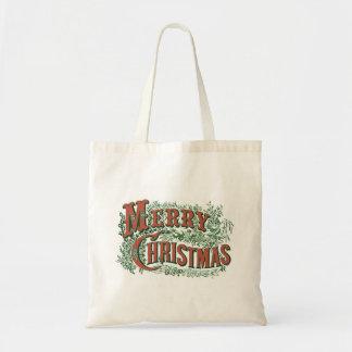 ヴィンテージのメリークリスマスのクリスマスのトート トートバッグ