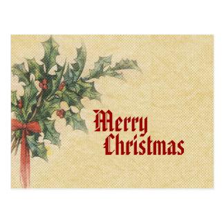 ヴィンテージのメリークリスマスの郵便はがき ポストカード