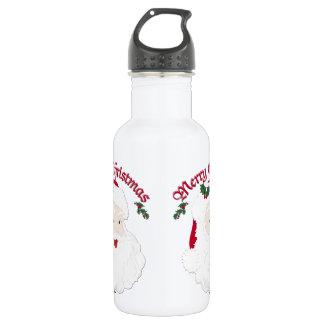 ヴィンテージのメリークリスマスサンタ-原稿 ウォーターボトル