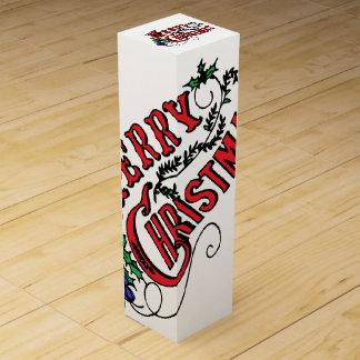 ヴィンテージのメリークリスマス ワインギフトボックス