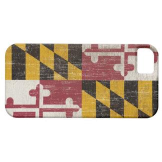 ヴィンテージのメリーランドの旗 iPhone SE/5/5s ケース