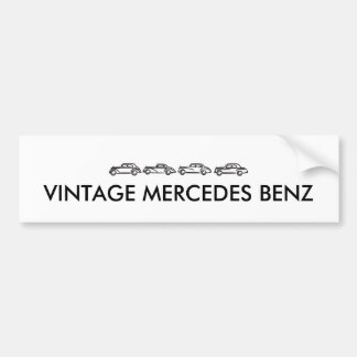 ヴィンテージのメルセデスモデル バンパーステッカー