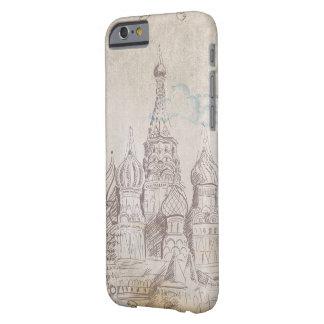ヴィンテージのモスクワの郵便料金のデザイン BARELY THERE iPhone 6 ケース