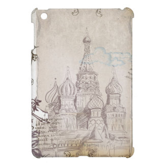 ヴィンテージのモスクワの郵便料金のデザイン iPad MINIケース