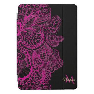 ヴィンテージのモダンで魅力的なターコイズのダマスク織のiPadのプロ場合 iPad Proカバー
