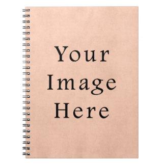 ヴィンテージのモモのピンクの硫酸紙の背景 ノートブック