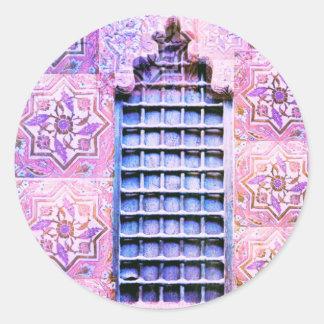 ヴィンテージのモロッコの窓のピンクのOranate Bohoの上品 ラウンドシール