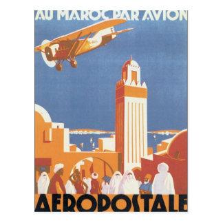 ヴィンテージのモロッコAeropostaleのモスク ポストカード