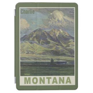 ヴィンテージのモンタナの名前をカスタムする装置カバー iPad AIR カバー