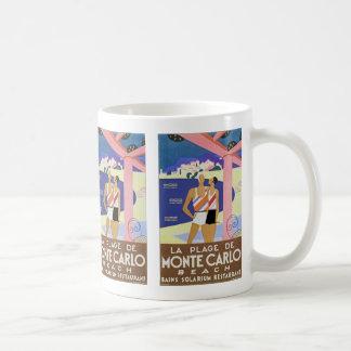 ヴィンテージのモンテカルロのビーチ コーヒーマグカップ