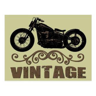 ヴィンテージのモーターバイク ポストカード