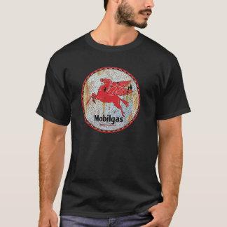 ヴィンテージのモービル油のガレージの印は錆つきました Tシャツ