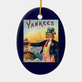ヴィンテージのヤンキーのシガーのラベル、愛国心が強い米国政府 陶器製卵型オーナメント