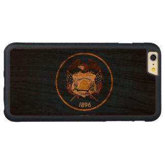 ヴィンテージのユタのグランジな州の旗 CarvedチェリーiPhone 6 PLUSバンパーケース