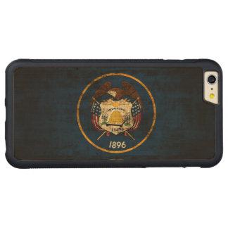 ヴィンテージのユタのグランジな州の旗 CarvedメープルiPhone 6 PLUSバンパーケース