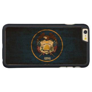 ヴィンテージのユタのグランジな州の旗 CarvedメープルiPhone 6 PLUS スリムケース
