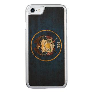 ヴィンテージのユタのグランジな州の旗 CARVED iPhone 8/7 ケース
