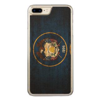 ヴィンテージのユタのグランジな州の旗 CARVED iPhone 8 PLUS/7 PLUS ケース