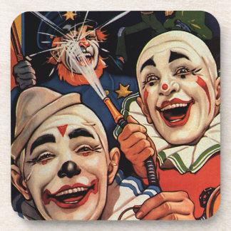 ヴィンテージのユーモア、笑うサーカスのピエロおよび警察 コースター