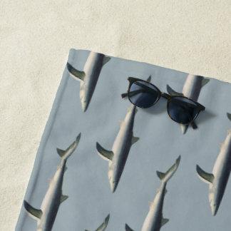 ヴィンテージのヨシキリザメ、水生海の海洋生物 ビーチタオル