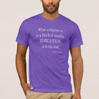 ヴィンテージのヨセフAddisonの教育の引用文 Tシャツ