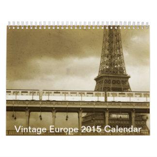 ヴィンテージのヨーロッパの景色の建築のカレンダー2015年 カレンダー