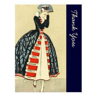 ヴィンテージのヨーロッパの軍隊はFahionのスタイルを作りました ポストカード