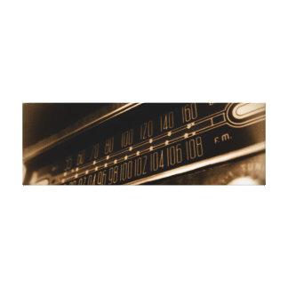 ヴィンテージのラジオ キャンバスプリント