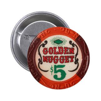 ヴィンテージのラスベガスのカジノのポーカー用のチップは賭博を欠きます 5.7CM 丸型バッジ
