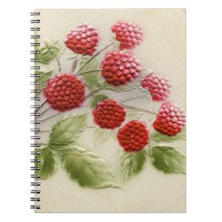 ヴィンテージのラズベリーのノート ノートブック