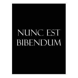 ヴィンテージのラテンのNunc米国東部標準時刻Bibendumの飲む引用文 ポストカード