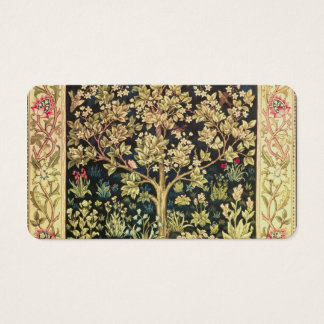 ヴィンテージのラファエロ前の画家ウィリアム・モリスの生命の樹 名刺