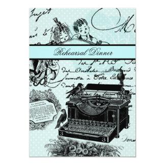 ヴィンテージのラブレターのリハーサルの夕食の招待 カード