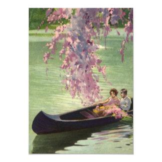ヴィンテージのラブロマンスもの、ロマンチックなカヌーの乗車 カード