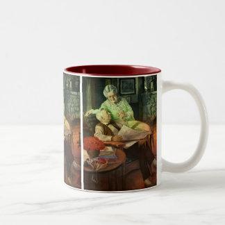 ヴィンテージのラブロマンスもの; ロマンチックな祖父母 ツートーンマグカップ