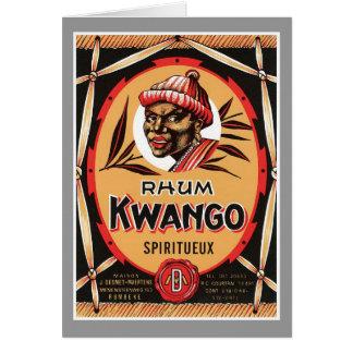 ヴィンテージのラム酒のアルコール飲料プロダクトラベル カード