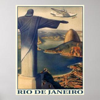ヴィンテージのリオデジャネイロのプリントが付いているポスター ポスター