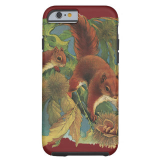 ヴィンテージのリス、野生動物、森林創造物 iPhone 6 タフケース