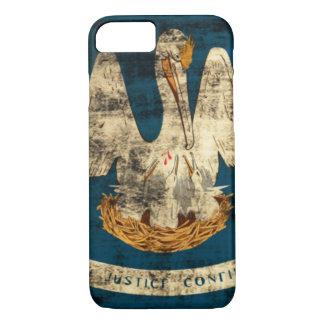ヴィンテージのルイジアナのグランジな州の旗 iPhone 8/7ケース