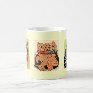 ヴィンテージのルイWain猫のギフトのマグ コーヒーマグカップ