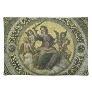 ヴィンテージのルネサンス芸術、Raphaelによる正義 ランチョンマット