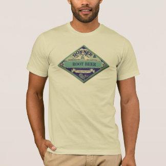 ヴィンテージのルートビアの広告のラベル Tシャツ