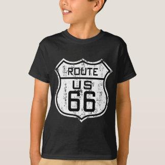 ヴィンテージのルート66 -動揺してなデザイン Tシャツ