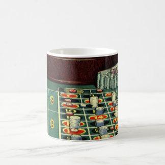 ヴィンテージのルーレットのテーブルのカジノのゲーム、賭ける破片 コーヒーマグカップ