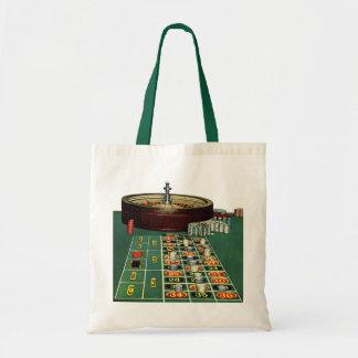 ヴィンテージのルーレットのテーブルのカジノのゲーム、賭ける破片 トートバッグ
