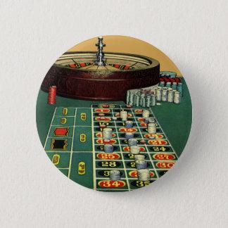 ヴィンテージのルーレットのテーブルのカジノのゲーム、賭ける破片 5.7CM 丸型バッジ