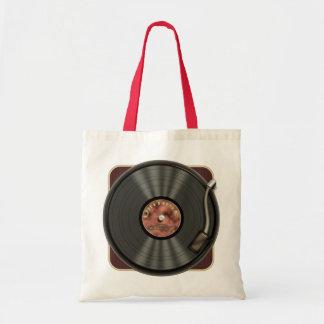 ヴィンテージのレコードのトートバック トートバッグ