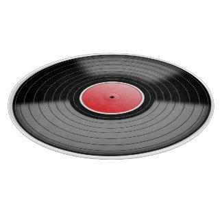 ヴィンテージのレコードの食品の調製板 カッティングボード