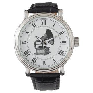ヴィンテージのレコードプレーヤ 腕時計