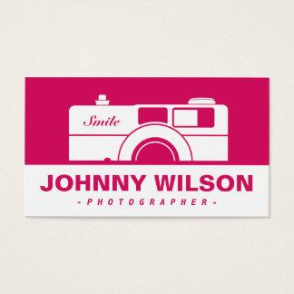 ヴィンテージのレトロのカメラのカメラマン 名刺